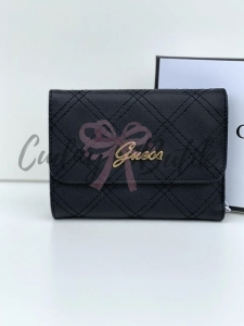 Guess Portfel Nevet Medium Flap Black
