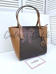 Michael Kors Kimberly Large Bonded Tote Brown Torebka