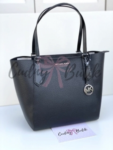 Michael Kors Kimberly Large Bonded Tote Black Torebka