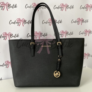Michael Kors Jet Set Medium Mult Funt Tote Black Torebka